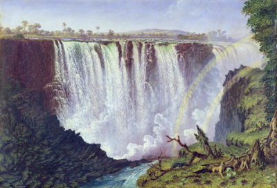 The Great Western Fall Victoria Falls 1862