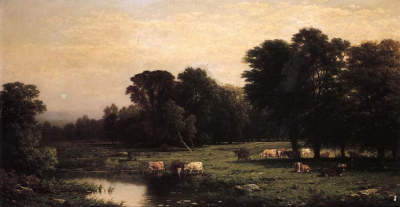 Bucolic Landscape with Cows