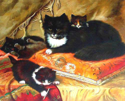 Cat Paintings N010