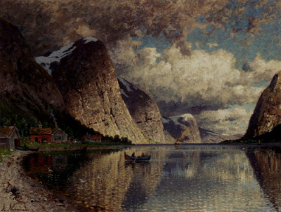 Cloudy Day on a Fjord