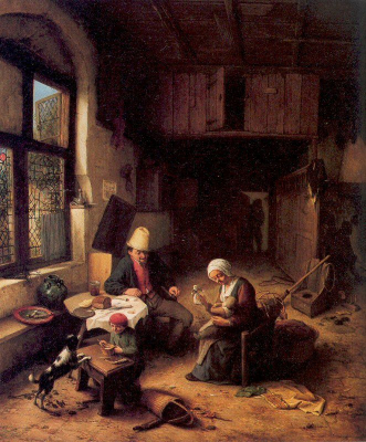Interior Of A Peasant's Cottage