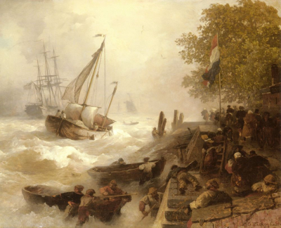 Return To Harbour In Rough Seas