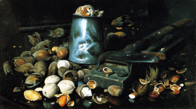 Still LIfe with Tin Can and Nuts