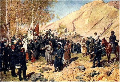 Capture of Imam Shamil by Russian Troops in 1859