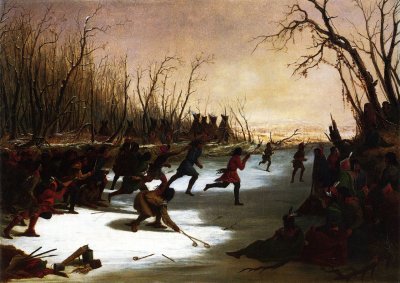 Ballplay of the Sioux on the St. Peters River in Winter