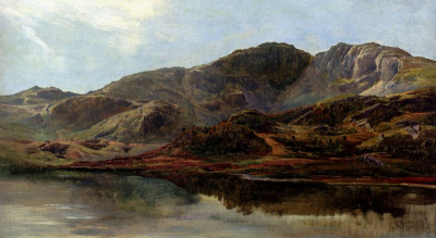 Landscape With A Lake, And Mountains Beyond