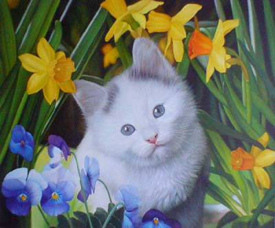 Cat Paintings N004