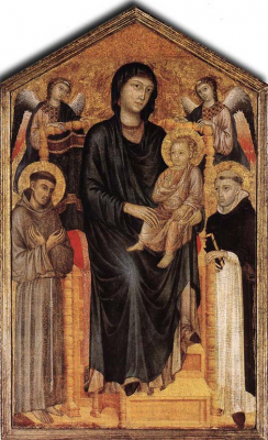Madonna Enthroned with the Child St Francis St Domenico
