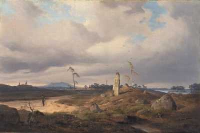 Landscape with Rune Stone