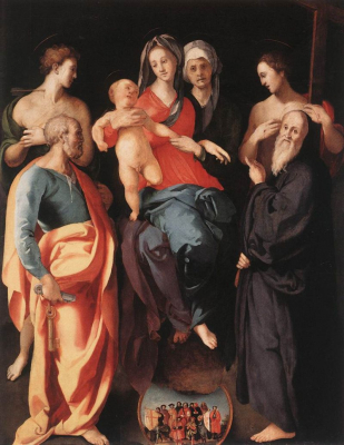 Madonna and Child with Saint Anne and Other Saints