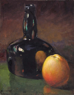 Still Life - Apple and Bottle