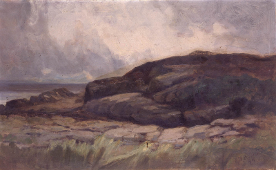 Untitled (landscape with rocks)