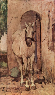 White Horse at a Door