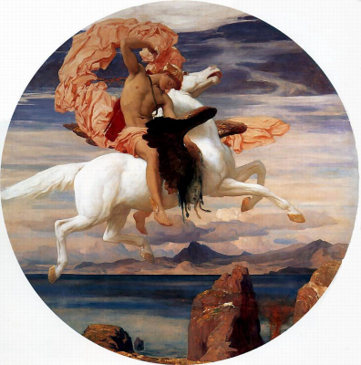 Perseus on Pegasus Hastening to the Rescue of Andromeda
