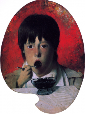 Boy Eating Berries