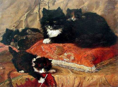 Cat Paintings N008