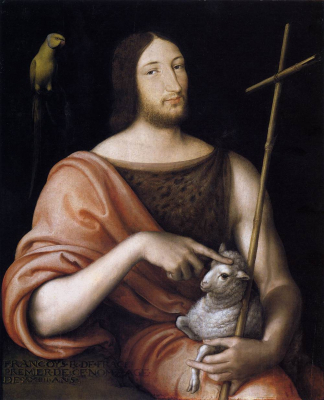 Portrait of Francois I as St John the Baptist