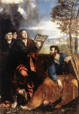 Saints John and Bartholomew with Donors