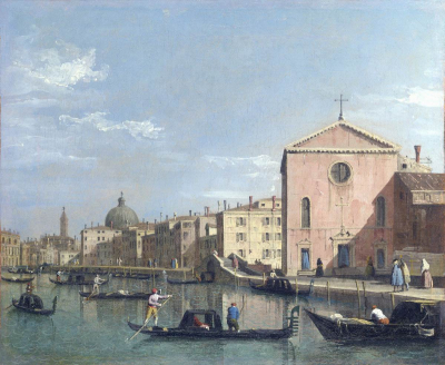 The Grand Canal facing Santa Croce