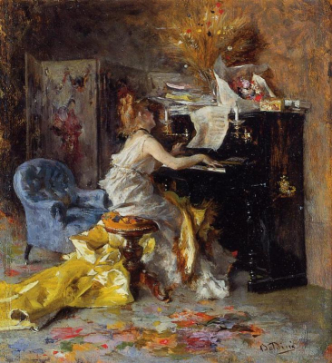 Woman at a Piano