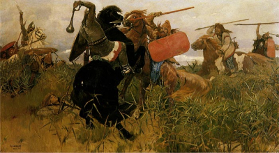 Fight of Scythians and Slavs