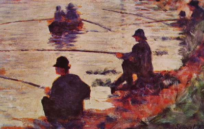 Fishing in the Seine