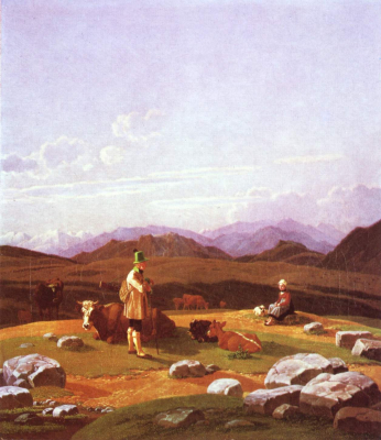 Hunters on the Mountain Pasture