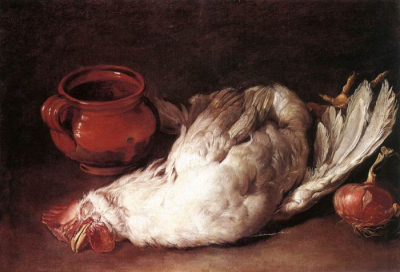 Still Life with Hen, Onion and Pot