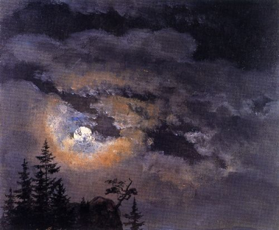Study of Clouds at Full Moon