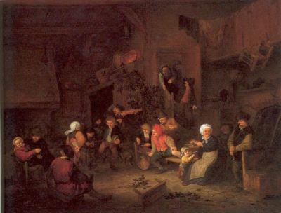 Villagers Merrymaking At An Inn