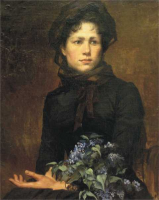 Young Lady with a Lilac Bouquet