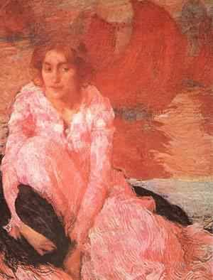 Girl In A Pink Dress 1900-1902