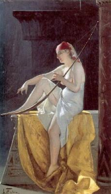 Egyptian Woman with a Harp