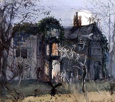 The Old Hall, Fairies by Moonlight
