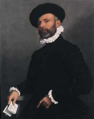 Portrait of a Man holding a Letter (L 'Avvocato)